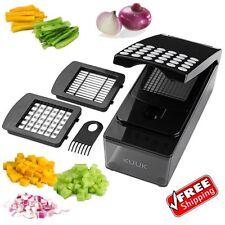 Onion Slicer Dicer Vegetable Cutter Kitchen Food Chopper Black Container Fruit