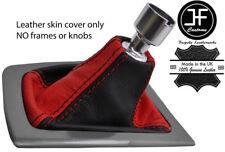 Negro y Rojo grano superior de cuero real Gear Polaina se ajusta Ford Focus MK3 2011-2015