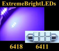 """ONE Purple 39mm 1.55"""" 6411 6418 18-SMD LED Map Dome Door Lights Bulbs #42"""