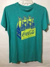 Coca Cola Women's T-Shirt Graphic Design Front Distressed.Size Small ,Mint Green