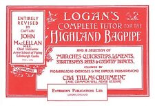 Logan's Complete Tutor for the Highland Bagpipe Book NEW 014019348