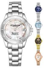 Stuhrling 3950 л женские подводный стройные 32 мм швабра из нержавеющей стали ссылка браслет часы