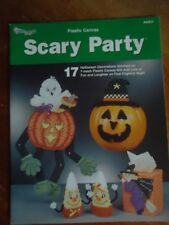 The Needlecraft Shop PLASTIC CANVAS Scary Party BOOK / LEAFLET # 842831