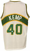 Seattle Supersonics Shawn Kemp Autographed Pro Style White Jersey JSA Authent...