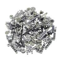 100 Lego Technic Teile grau 125 g z.B. Loch Balken Achs Pin Verbinder Liftarm Za