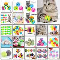 Colorful Cat Bell Balls Toy Pet Kitten Sound Rattle Playing Chew Interactive Toy