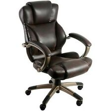 Office Chair Brown Executive Champagne Finish Gaming Home Heavy People Bad Backs