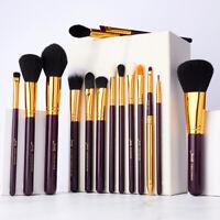 Jessup 15Pcs Makeup Brushes Pro Powder Foundation Cosmetics Eyeshadow Brush Set