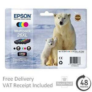 Genuine Epson 26 Ink Cartridges Polar Bear Expression Premium