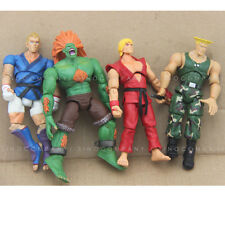 Gift LOT 4 STREET FIGHTER BLANKA KEN ABEL GUILE 4'' ACTION FIGURE TOY GAME FW225