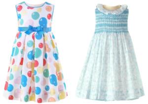 RACHEL RILEY GIRLS DRESS - BUBBLE PLEAT DRESS OR SMOCKED DRESS & BLOOMERS - New