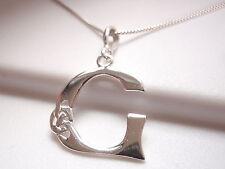 "Celtic Style Letter ""G"" Pendant 925 Sterling Silver Corona Sun Jewelry g"