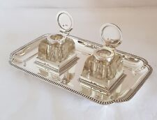 Un look vittoriano argento Sterling inchiostro Stand/Standish. London 1899.By Mappin Brothers