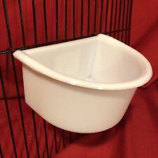 Rabbit Guinea Pig Cage Clip Water Food Bowl 2 Hook Coop Cup 11cm Hamster Rat
