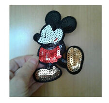 """Mickey Mouse - Disney - Cartoon - Sequin Iron On Applique Patch - 4 3/4""""H"""