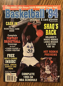 Vintage Basketball 94 Yearbook and Card Review (Shaquille O'Neal Cover)