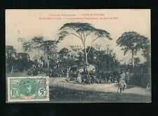 FRENCH WEST AFRICA 1906 MARITIME IVORY COAST PPC VFU...SS TAURUS...BINGERVILLE
