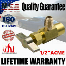 "R-134a R-134 BRASS A/C Can Tap TAPPER DISPENSING VALVE 1/2"" ACME Thread Adapter"