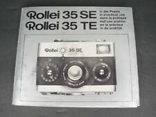 Rollei 35Se / 35Te In Practical Use Camera Instruction Book / Guide / Manual
