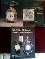 SOTHEBYS Watches 3 Catalogs  Fine & Good Clocks The Thielman Collection '89 - 97