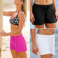 Women Plain Swim Short Bikini Swimwear Swimsuit Beachwear Boardshort Sport Brief