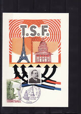 carte  1er jour     liaison TSF  tour Eiffel  Pantheon    75 Paris  1973