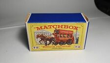 MATCHBOX LESNEY YESTERYEAR Y-12 London Horse Bus ORIGINAL EMPTY BOX