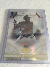 2008 Donruss Threads Yefri Carvajal San Diego Padres rookie autograph serial #'d