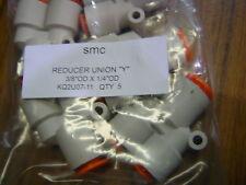 """QTY 5 SMC KQ2U07-11 one touch Reducer Union """"Y"""" 3/8""""OD X 1/4"""" OD"""