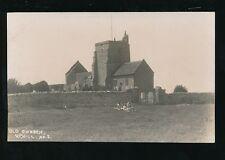 Somerset Weston-super-Mare UPHILL Church + picnic c1910/20s? RP PPC