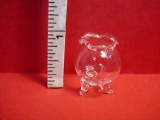 Miniature Fluted Glass 3 Leg Planter #G1033 Royal Minis 1/12th Scale