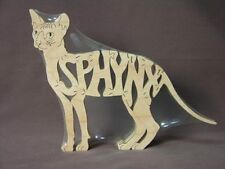 Sphynx Cat Wooden Puzzle Amish  Scroll Saw Toy  NEW