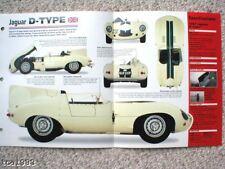 ANTIGUO JAGUAR RACING FOLLETOS/ROAD Tests IMP Colección: XJR, D,C Tipo