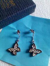 MISS MISS GIOIELLI orecchini earrings argento silver farfalla Swarovski donna