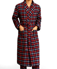 BROOKS BROTHERS Red Plaid PURE COTTON/ Flannel Robe. New With Tags **US 2XL