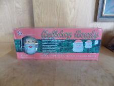 NEW LARGE Christmas Santa Blow Mold Solar Pathway Lights Yard Decor WIRELESS (A)