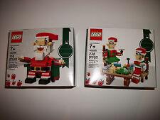 Lego Sealed Set Lot #9 Christmas Holiday Seasonal Santa Elves x2 Gift Toy