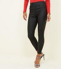 Ladies High Waist Leather Look Super Skinny Jegging Womens Jean Legging Wet