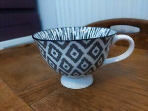 Tesco Large Coffee/Tea Fine China Cup/Mug  VGC Grey