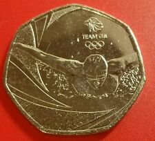 2016 Fifty Pence 50p Coin Team GB Rio Olympics Unc Condition