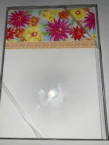 10 thank you cards - Flat Notecards blank- New-  Pink Floral Design