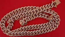 700 grams 10k rose gold 45 ct diamonds 16mm miami cuban link chain necklace deal