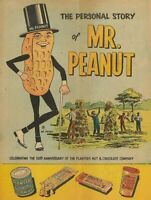 Mr. Peanut Salted Nuts Story Vintage Tin Metal Sign 8 x 12