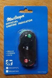 Macgregor Baseball Softball Official Umpire Metal Indicator Counter - NIP