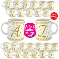 Alphabet Letter Funny Novelty Monogram Name Initial Coffee Tea Cup Mug Gift