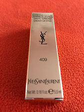 VERNIS A LEVRES YVES SAINT LAURENT 409 ROUGE PUR COUTURE NEUF