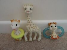 Sophie The Giraffe  with Teether Toy & Bath Toy x 3 items