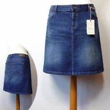 Denim Patternless Short/Mini Casual Skirts for Women