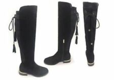 Kelsi Krush Suede Knee High Boots Black Size 3 EU 36 NH06 15