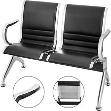 2-Seat Waiting Chair Room Business Reception Bench W/ Armrest Comfortable Guest